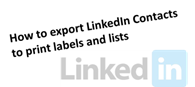 LinkedIn Export into Excel